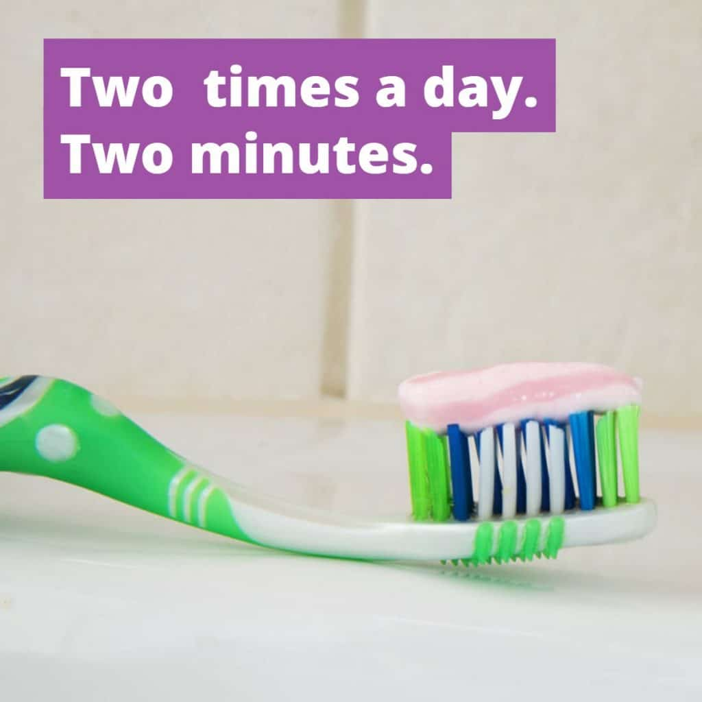 sacramento wellness dentistry brush two times a day for two minutes
