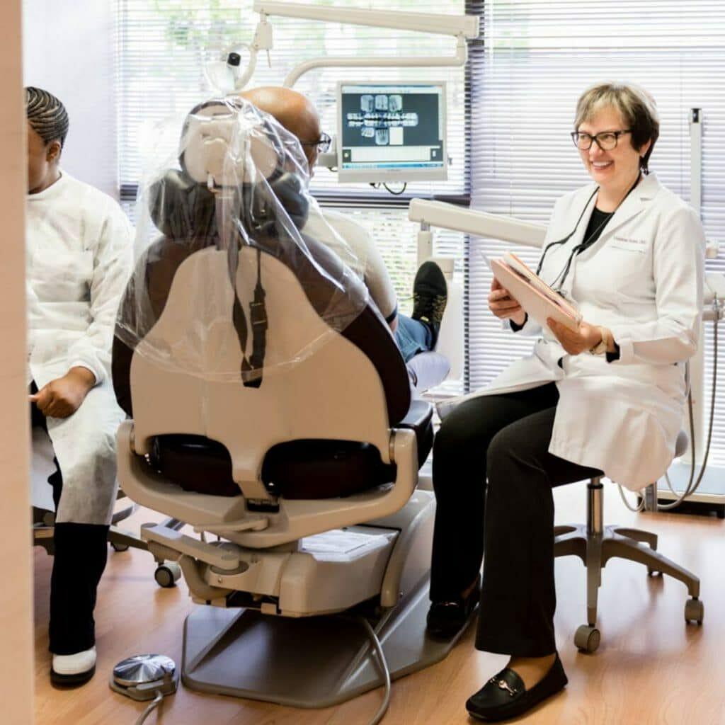 sacramento wellness dentistry dentist with patient